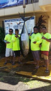 Family n Friends 2015 - Matt Cabjuan - Carol C I I - Biggest Ahi 212.8 lbs - 2